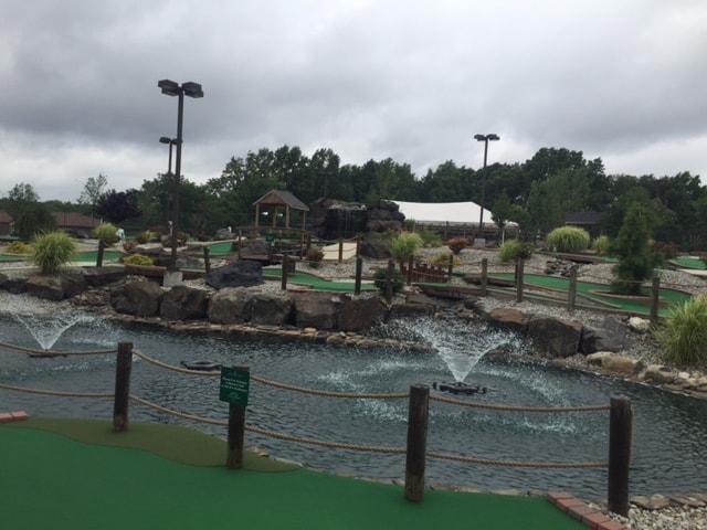 water in mini golf