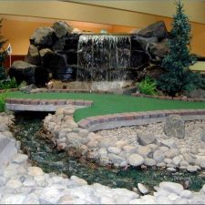 indoor stream mini golf course design