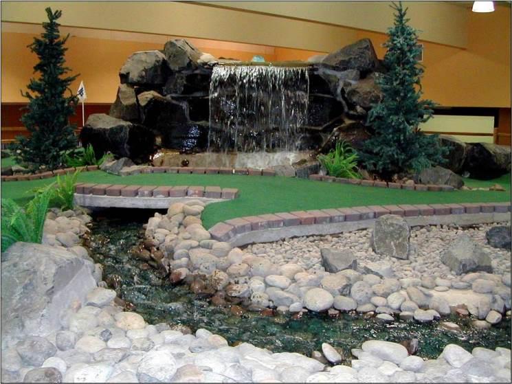 indoor stream mini golf course design