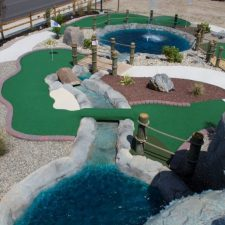 birds view mini golf course design