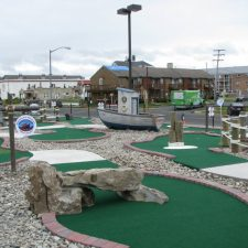 boat and lighthouse mini golf course design