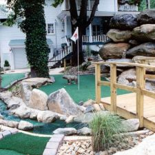 boulder and bridge mini golf course design