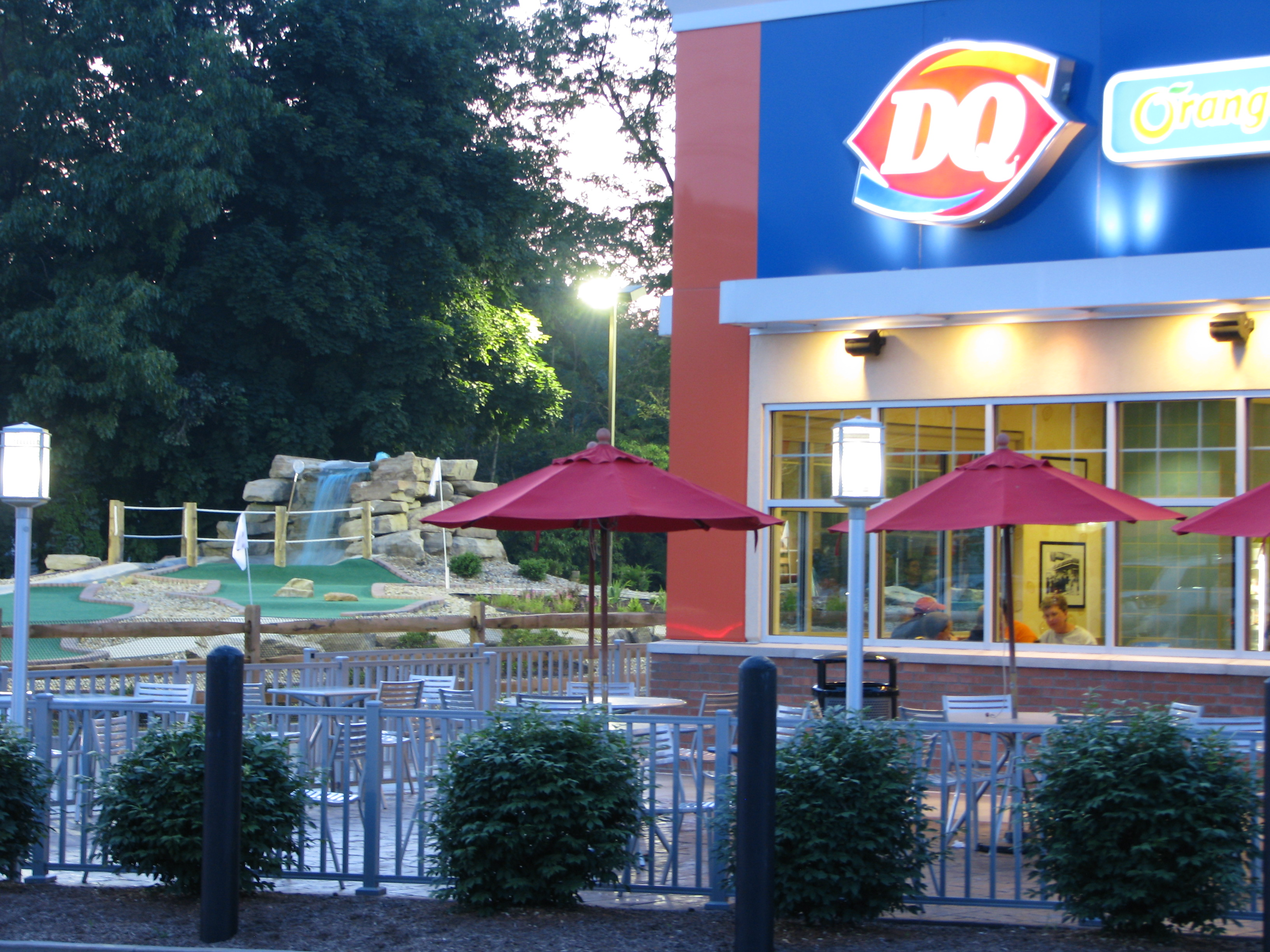 mini golf next to Dairy Queen