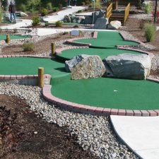 drop shot mini golf course design