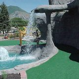 canyon waterfall mini golf course design