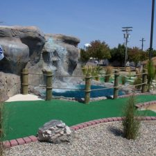 tall waterfall mini golf course design