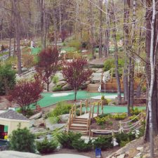 in the woods mini golf course design