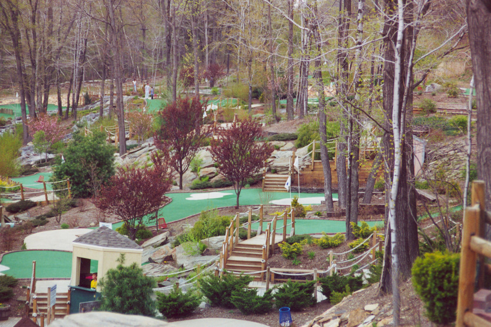 in the woods mini golf course design