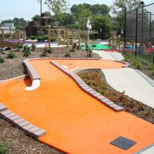 orange carpet mini golf course design