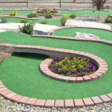 planter circle shot mini golf course design