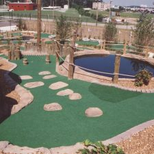 multi rock obstacle mini golf course design