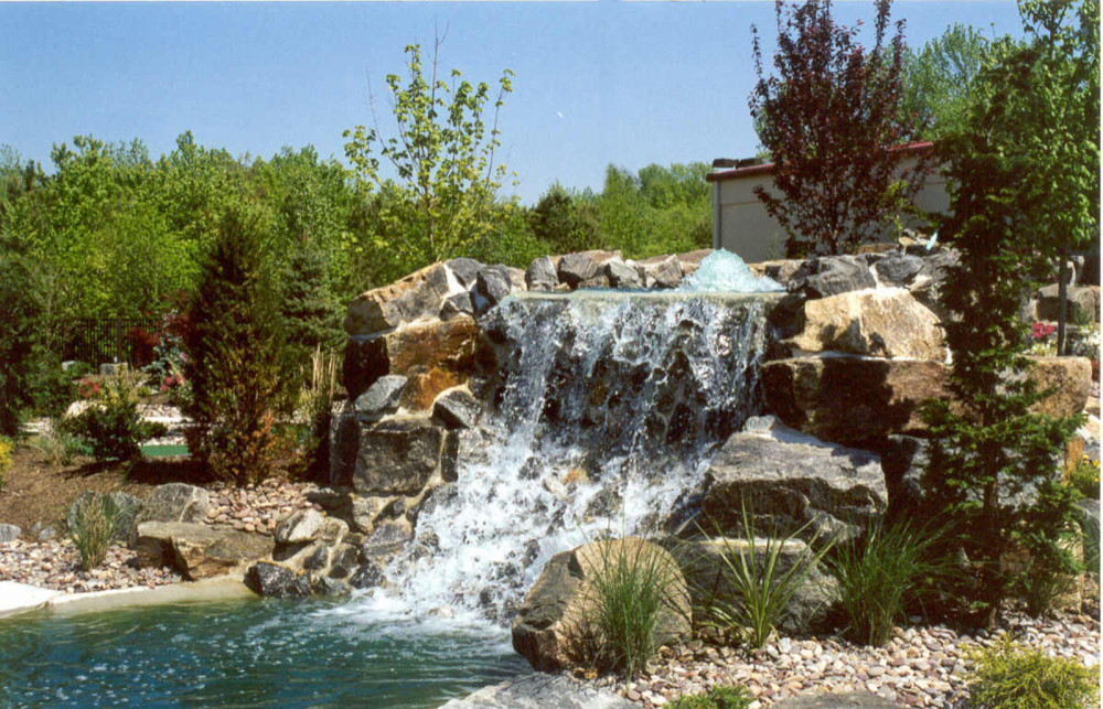 rock waterfall mini golf course design