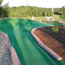 steep ramp mini golf course design