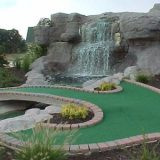 water fall feature mini golf course design