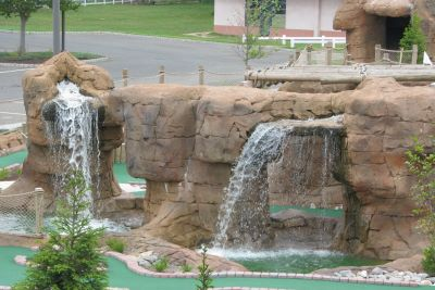 two waterfall mini golf course design