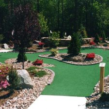 mini golf course hole 1