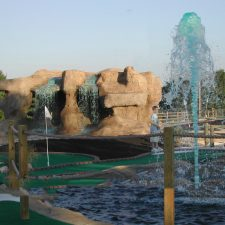 waterfall mini golf shot