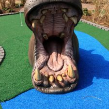 hippo mini golf hole