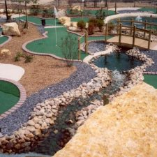 multi color stream mini golf course design