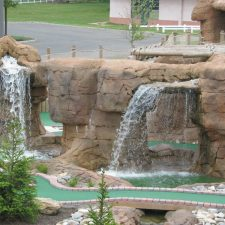 waterfalls mini golf course design