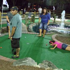 nighttime mini golf course design