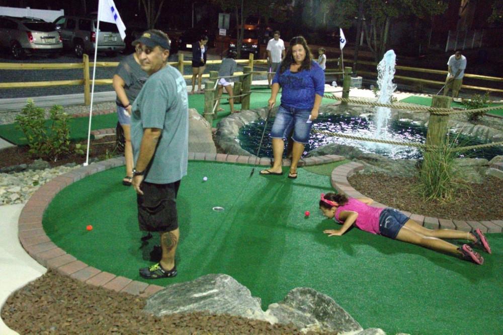 nighttime mini golf course design