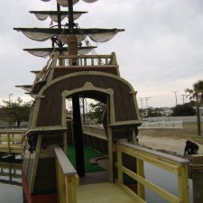 pirate ship mini golf course design