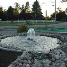 fountain mini golf course design