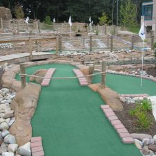 rock stream mini golf course design