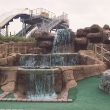 waterfall stairs mini golf course design