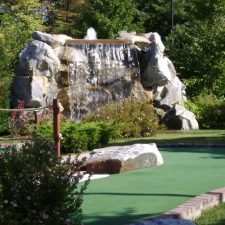 large waterfall mini golf course design