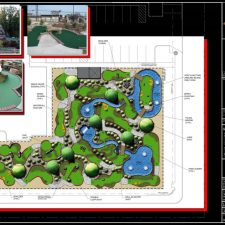 mini golf course design rendering