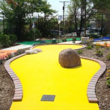yellow carpet mini golf course design
